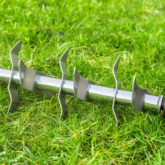 Solid or hollow tine aeration
